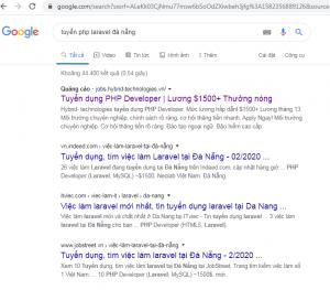Tuyển lập trình viên PHP Laravel Đà Nẵng